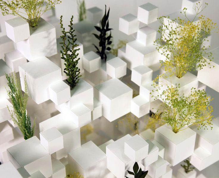 sou fujimoto stacks many small cubes for FIAC in paris