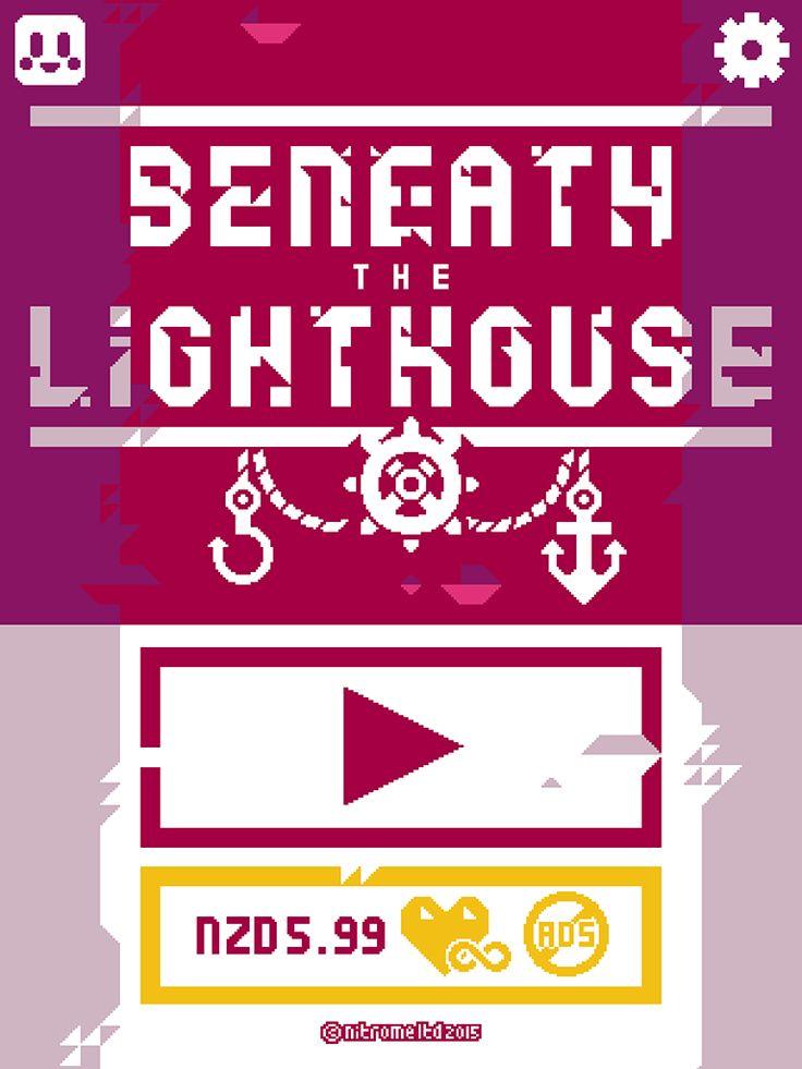 Beneath The Lighthouse | IAP Step 1 | Nitrome | UI HUD User Interface Game Art GUI iOS Apps Games | Pixel Art