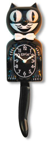 Socially Conveyed via WeLikedThis.co.uk - The UK's Finest Products -   Kit-Cat Clock, Black http://welikedthis.co.uk/kit-cat-clock-black