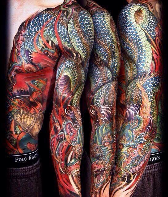 Amazing sleeve and rib cage tattoo. Soda man good OR so ...