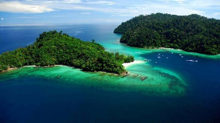 Pulau Gaya og Pulau Sapi i øhavet ud for Borneo