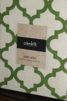 Amazon Olive Green Flocked Velvet Lattice Moroccan Quatrefoil Fabric Shower Curtain On Beige Bedding Bath