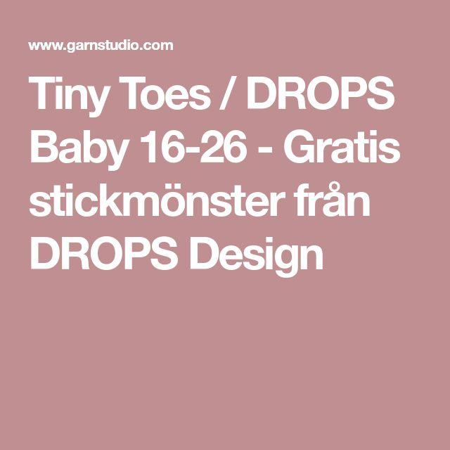 Tiny Toes / DROPS Baby 16-26 - Gratis stickmönster från DROPS Design