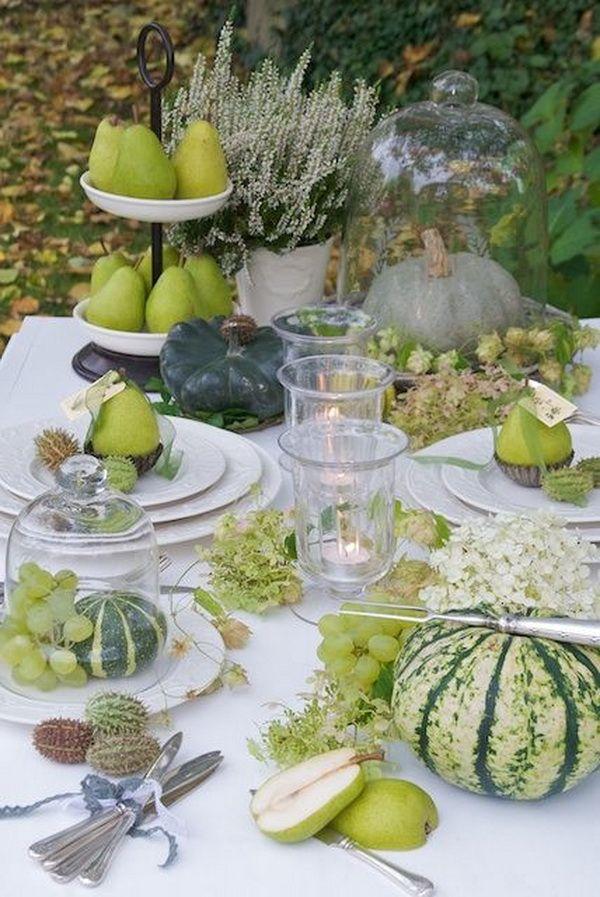 zöld őszi asztal körtével és tökkel (1)
