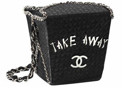 Let's order take out! ;-)  CHANEL Paris-Shanghai Take Away Bag