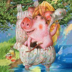 Купание розовой свиньи. Наталья Деревянко