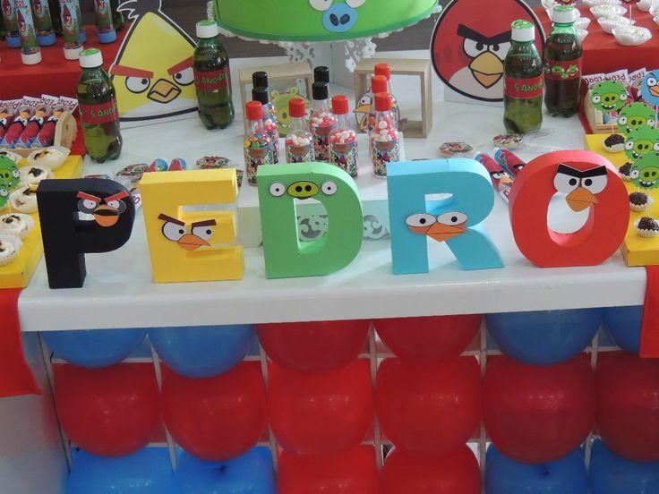 Letra 3d Aniversario Personalizado Angry Birds Scrapbook - R$ 9,00