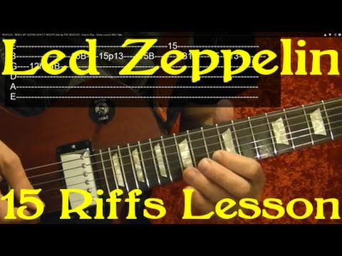 LED ZEPPELIN - 15 of their BEST RIFFS! - Guitar Lesson ( With Printable Tabs! ) - YouTube