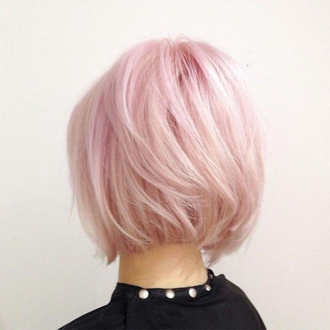 Rose Quartz hair – Pantone hair colour trends                                                                                                                                                     More