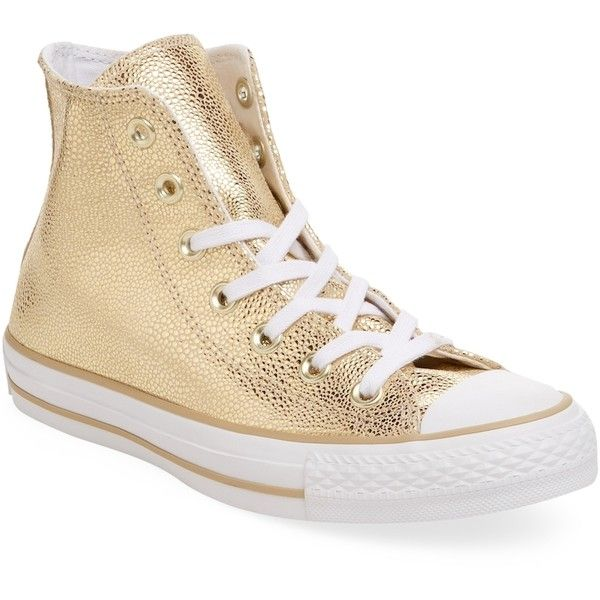 c2b228afdc47ff Converse Women s Chuck Taylor All Star Stingray Metallic Hi-Top -... ( 59)  ❤ liked on Polyvore featuring shoes