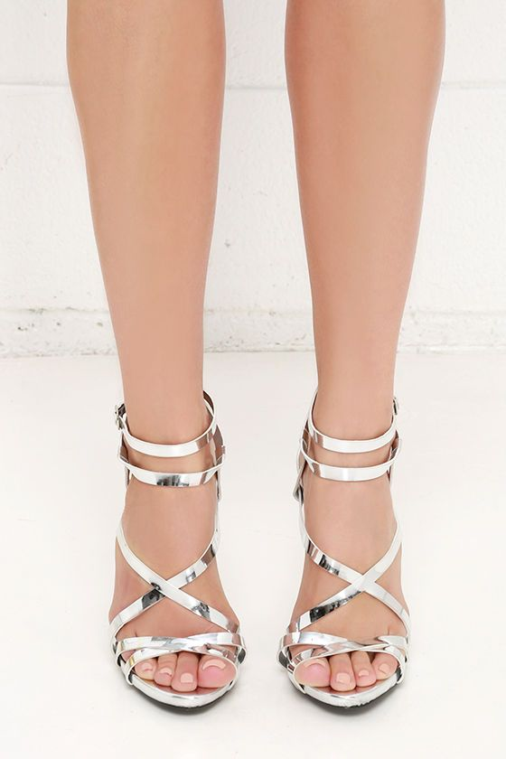 Let's Groove Tonight Silver Dress Sandals at Lulus.com!