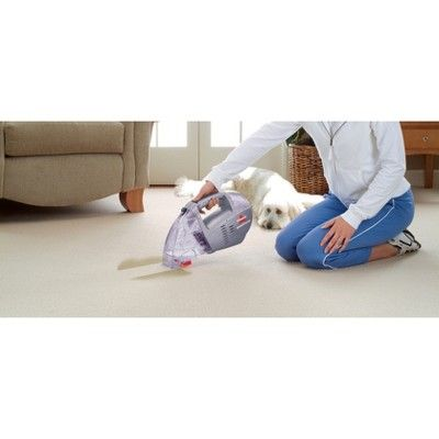 bissell cordless spot lifter 2x handheld portable upholstery and carpet cleaner silver purple - Hand Held Carpet Cleaner