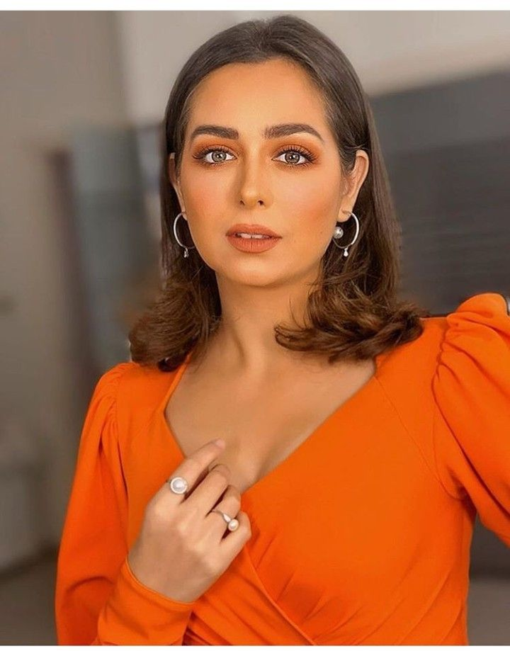 Orange Makeup Heba Magdy Egyptian Actress Middle East Beauty Arab Celebrities Egyptian Actress Arab Beauty
