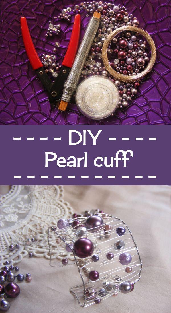 I am in love with my DIY pearl cuff <3