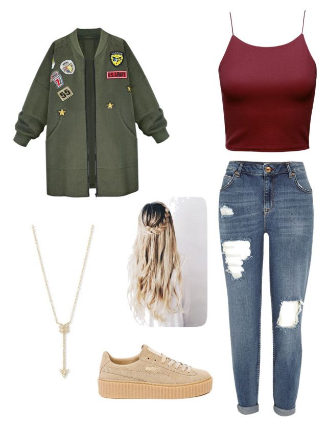 """Sin título #143"" by kikaa18 on Polyvore featuring moda, Puma, WithChic, River Island y EF Collection"