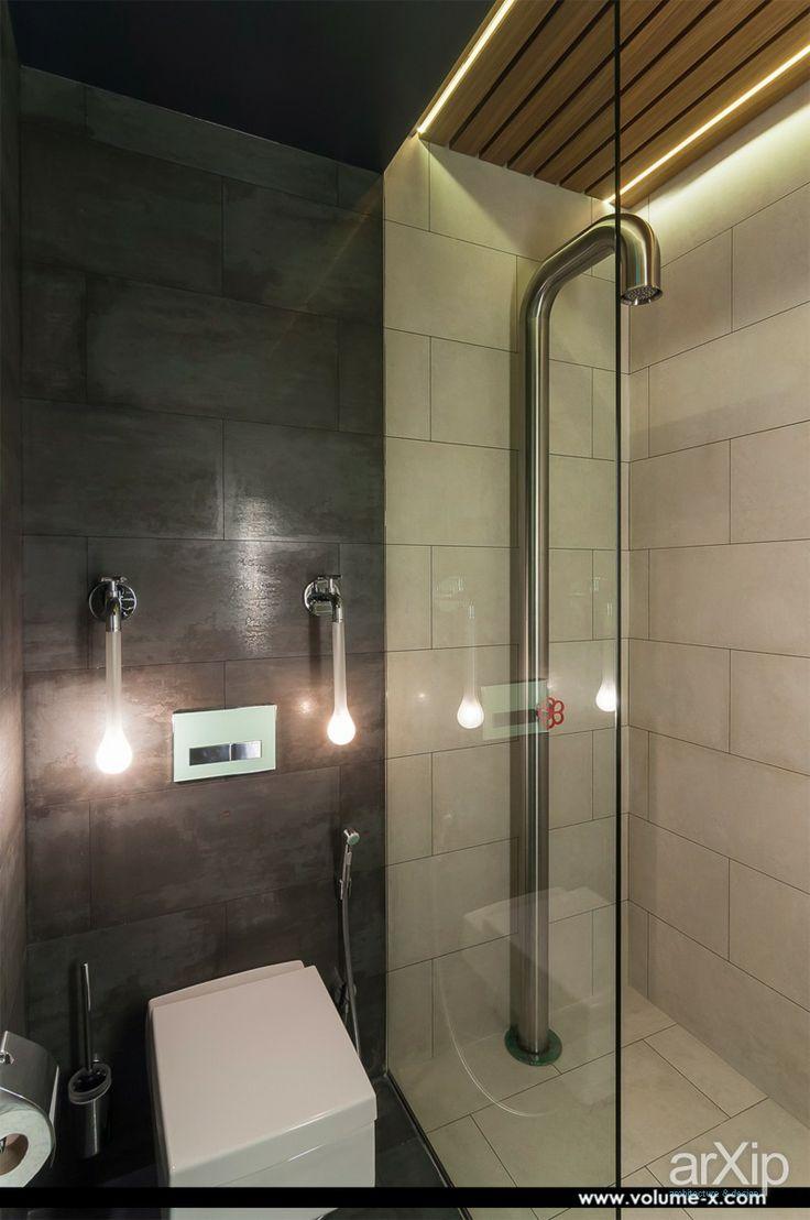 Гостевой санузел в московской квартире: интерьер, квартира, дом, санузел, ванная, туалет, современный, модернизм, 0 - 10 м2 #interiordesign #apartment #house #wc #bathroom #toilet #modern #010m2 arXip.com