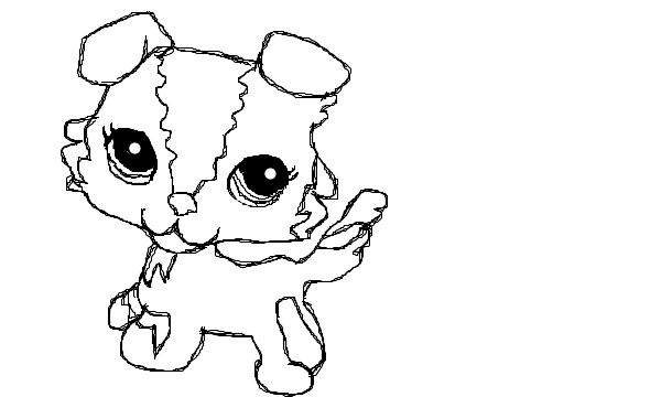 Littlest pet shop dog coloring pages cute lps dog for Littlest pet shop coloring pages dog