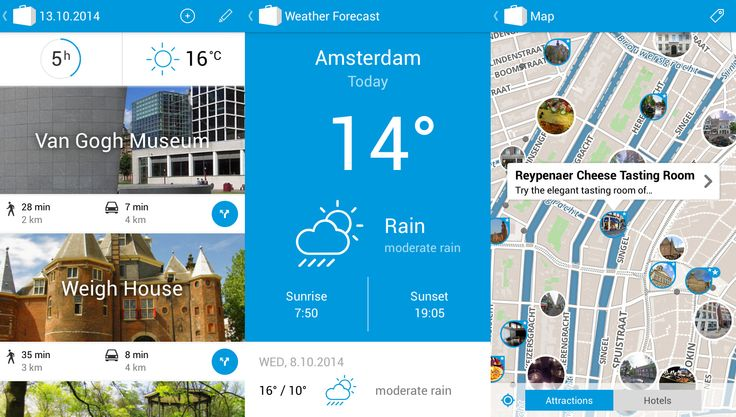 Planning a trip to Amsterdam? Don't miss the best sights with Tripomatic for Android! In the latest version of our app, we are bringing you tons of new features, including time estimates, routing and weather forecast. Tripomatic is the best way to explore places you have never visited before. Get the app here https://play.google.com/store/apps/details?id=com.tripomatic or visit http://www.tripomatic.com.