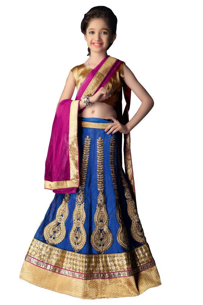 New Bollywood Designer Wedding Indian Kids Lehenga Choli Girls Pakistani Ethnic…