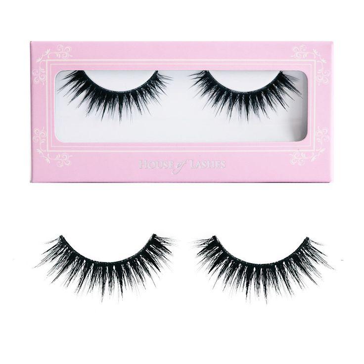 House of Lashes Noir Fairy (pinner said these are the best false eyelashes)... i like these false lashes. they don't LOOK super fake...