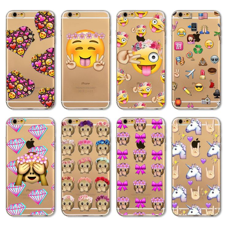 2016 Funny Phone Case For Apple iPhone 6 6s 5 5S SE 6Plus 6sPlus 4 4S 5C Cover Transparent Silicon Monkey Emoji Mobile Phone Bag [Affiliate]