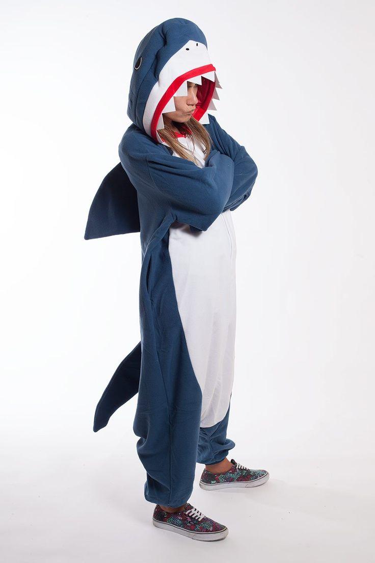 Shark Kigurumi Onesie Adult Costume Pajamas Front