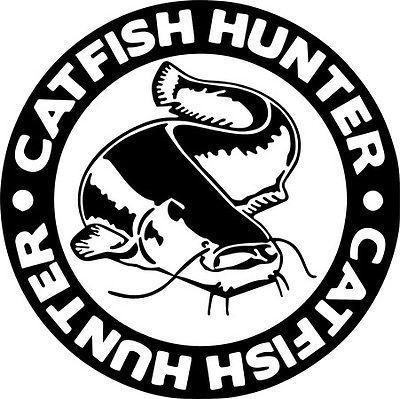 Catfish #hunter carp crew pike fishing hooks  van #laptop car #sticker vinyl deca,  View more on the LINK: http://www.zeppy.io/product/gb/2/172140893834/