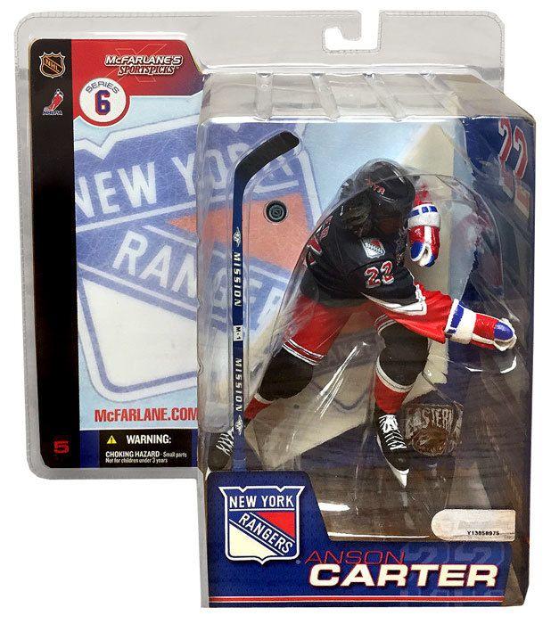 McFarlane Toys NHL New York Rangers Sports Picks Series 6 Anson Carter Action Figure [Black Jersey Variant]