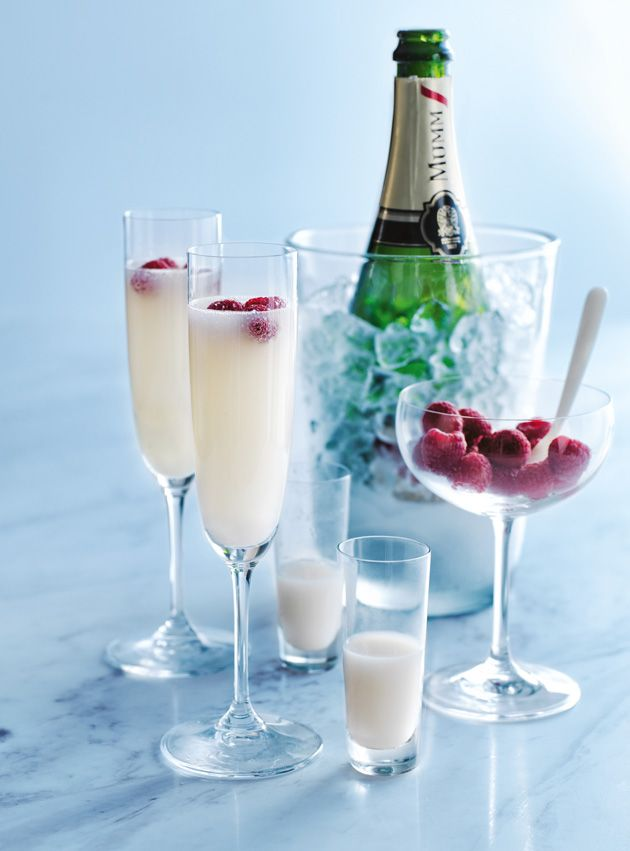 lychee and raspberry champagne