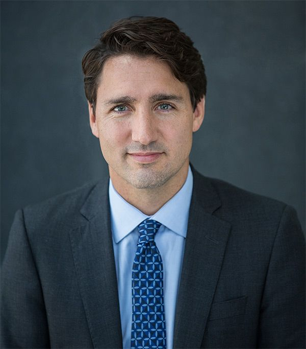 Official portrait of Prime Minister Justin Trudeau.