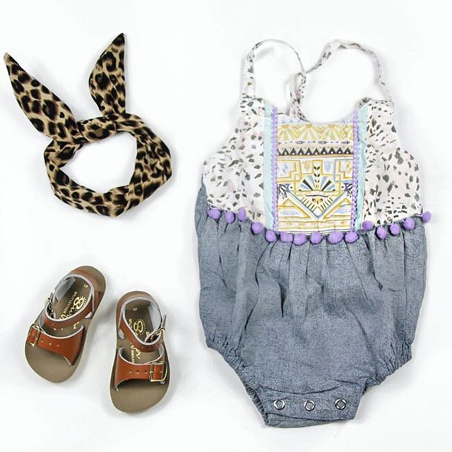 Children of the Tribe  || Outfit idea via stockist @hipkinkids includes our Chambray Marble Onesie {available in size 000-1yr}.