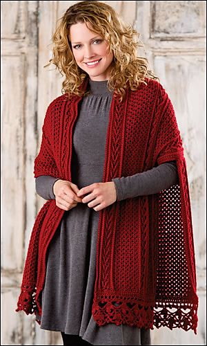 Beautiful crocheted ruana for fall. The pattern is on Ravelry.