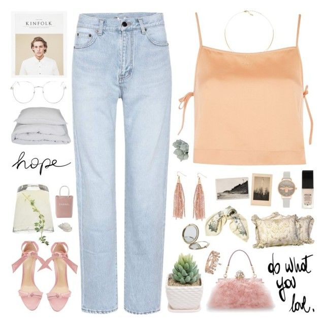 """""""i have this hope ♡"""" by my-pink-wings ❤ liked on Polyvore featuring Topshop, Yves Saint Laurent, Alexandre Birman, Dolce&Gabbana, Kinfolk, Humble Chic, Henri Bendel, Olivia Burton, Hermès and Stila"""