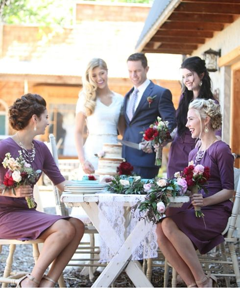 Perfect for weddings, the Madeline dress in plum :) Be happy on your wedding day!