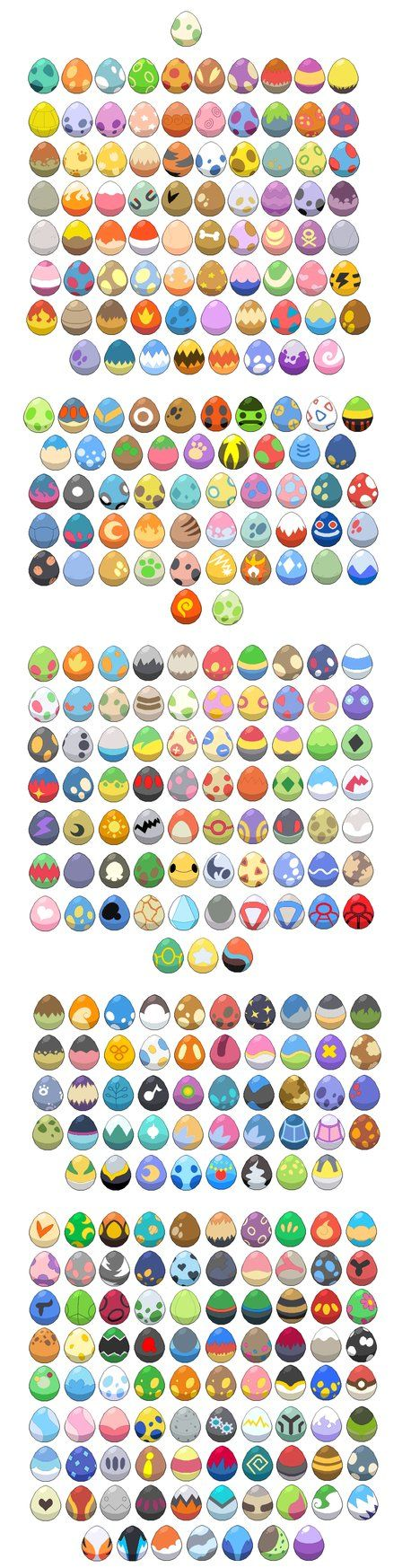 Pokemon Eggs, by WaterTrainer. Some based on the anime designs, the rest are made up.