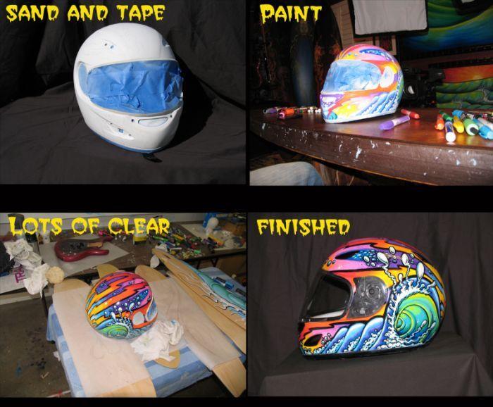 Spray Paint Motorcycle Helmet