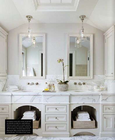 French Country Bathroom Design Collage Under Sink