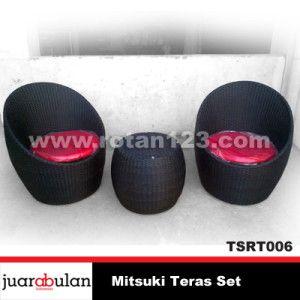Mitsuki red cushionTeras Set Kursi Rotan Sintetis TSRT006 copy