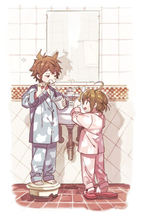 Awwww Look at the little Naegi siblings. There so cuuuuuute~