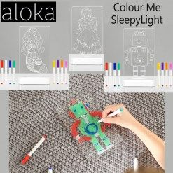 A #childrennightlight that kids can personalise... #alokanightlight #alokasleepylight #kidsnightlight