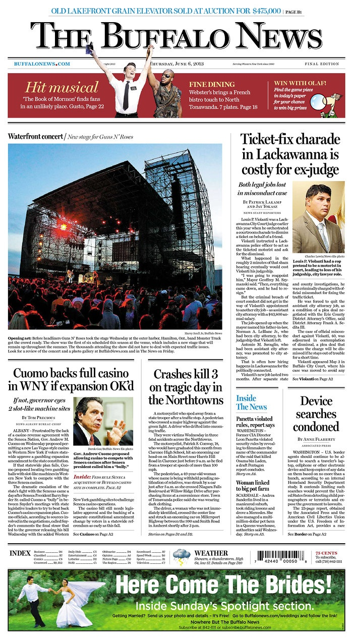 The Buffalo News, published in Buffalo, New York USA