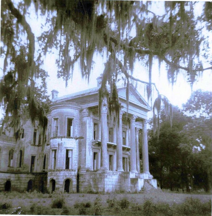 Belle Grove Plantation, colorized.   Louisiana.