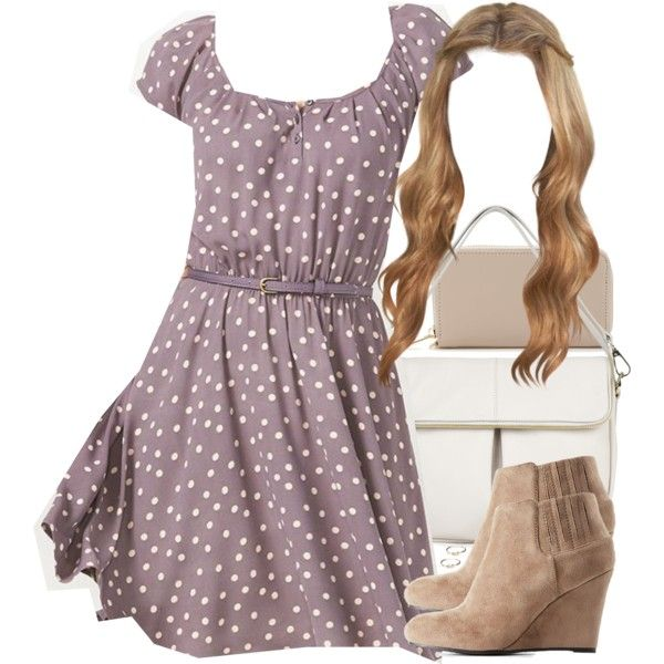 A fashion look from November 2016 featuring LC Lauren Conrad dresses, Charlotte Russe ankle booties and Whistles handbags. Browse and shop related looks.