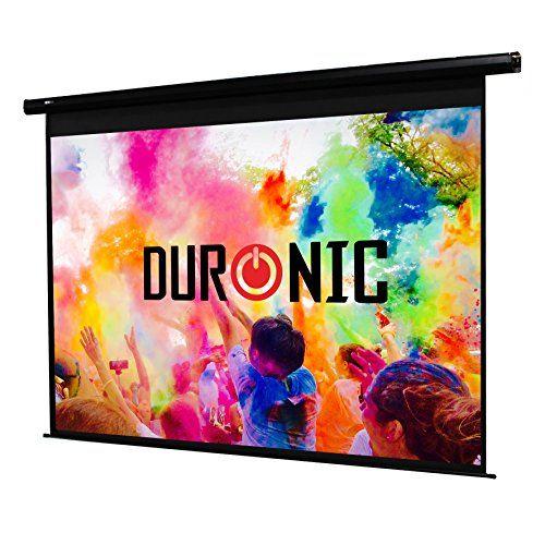 Duronic EPS70/43 HD Projektor Leinwand / Projektionsfl�che / Heimkino / Beamer Leinwand 142 x 107 cm / Elektrischer Rolloleinwand - Montierbar Decke oder Wand