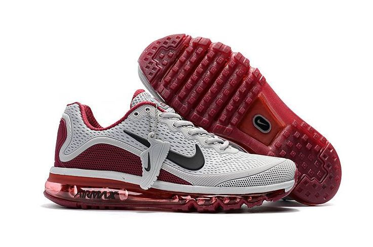 New Coming Nike Air Max 2017 5 Max KPU Grey Wine Red