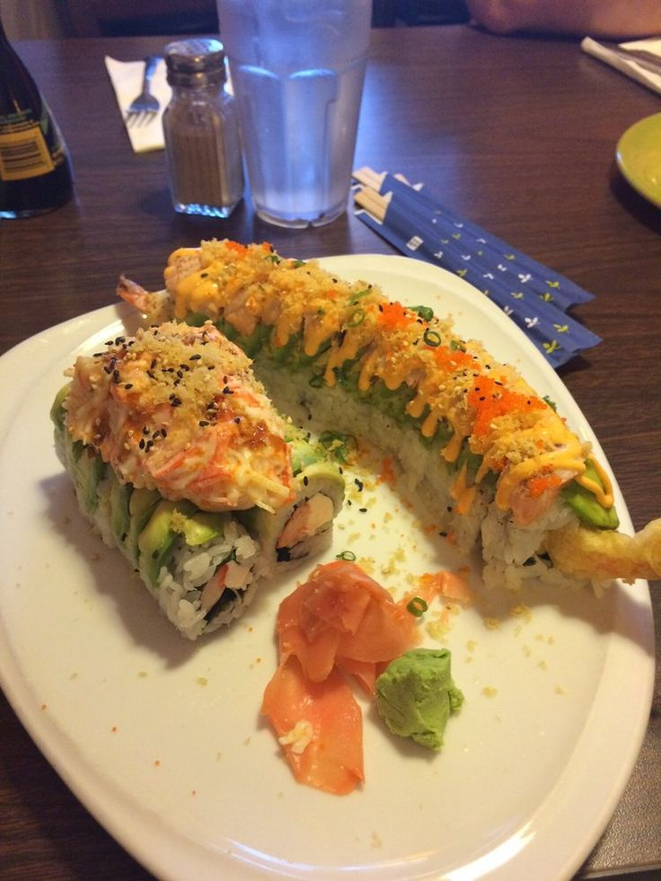 Asian Garden - Hialeah, FL, United States. Miami Heat roll and volcano roll!!