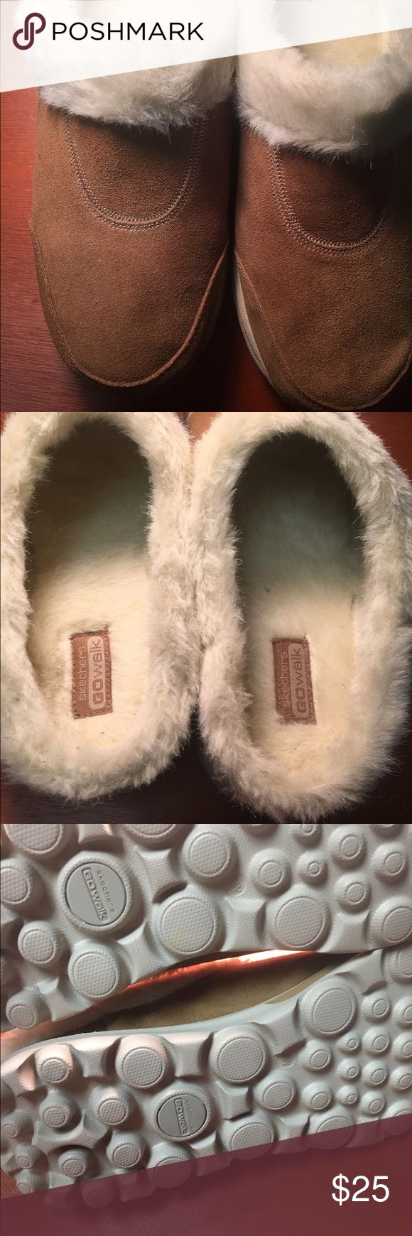 Sketchers furry slippers! Reserved for dragonfly Fluffy and so soft😊 Skechers Shoes Slippers