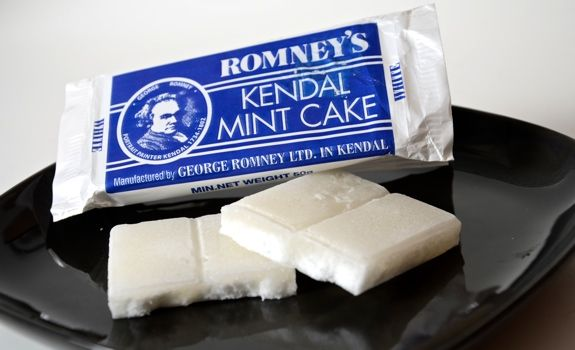 Kendal Mint Cake is a glucose-based confectionery flavoured with peppermint. It originates from Kendal in Cumbria, England. Popular among climbers and mountaineers, especially those from the United Kingdom, as a source of energy.