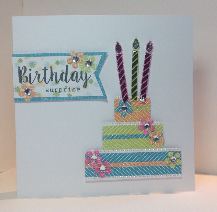 Card made by Julie Hickey, using the Celebrations kit and stamp set from Craftwork Cards