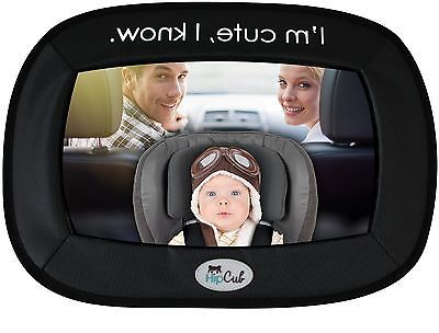 Baby Car Mirror By Hip Cub - Largest Backseat Mirror for Best Infant View! - http://baby.goshoppins.com/safety-seats/baby-car-mirror-by-hip-cub-largest-backseat-mirror-for-best-infant-view/